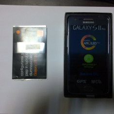 Telefon Samsung, Negru, 8GB, Orange, Single SIM, Dual core - Smartphone Samsung Galaxy S2 Plus I9105P NFC Blue