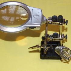 Electronice - LUPA cu clesti, lumina, si suport de LETCON ideala pt elctronica si bijuterie