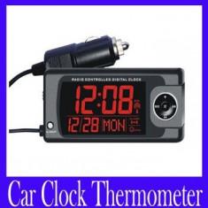 Termometru Auto - Termometru / ceas auto digital ecran LCD ZL811