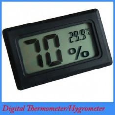 LO117 - Mini TermoHigrometru - Termometru Higrometru pentru acvariu