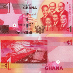 GHANA 1 cedi 2013 UNC!!! - bancnota africa
