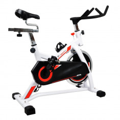 Bicicleta fitness - Bicicleta indoor cycling inSPORTline Jota/alb
