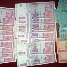 Bancnote Romanesti, An: 1998 - Lot 30 Bancnote Circulate Romania, colectie anii `90 - de la 1 LEU!
