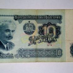 Bancnota Bulgaria 1974 - 10 leva - circulata, An: 1974