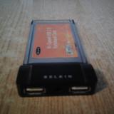 ADAPTOR PCMCIA 2 USB BELKIN USB 2.0 PERFECT FUNCTIONAL