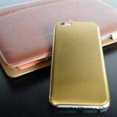Husa / toc iPhone 6 lux - 100% aluminiu finisat, 0.3 mm grosime, nu piele, GOLD - Husa Telefon Apple, Auriu, Metal / Aluminiu
