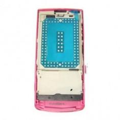 Carcasa fata Nokia X3-02 Touch and Type Originala Roz SWAP