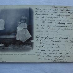 Carte postala circulata in anul 1901 Charleroi Franta, Printata