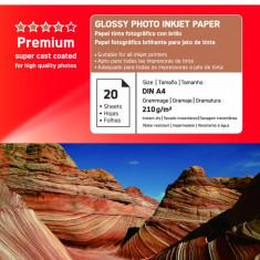 HARTIE FOTO AGFA GLOSSY INKJET A4 210G/20COLI - Hartie foto imprimanta