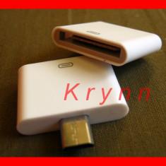 I47 Adaptor Incarcator micro USB tata - iPhone 3G 3GS 4 4S iPod 30 pin mama
