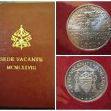 Vatican monede argint 2 x 500 lire August + Septembrie 1978 - Sede Vacante
