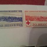 Elvetia 1939 serie MH crucea rosie, Nestampilat