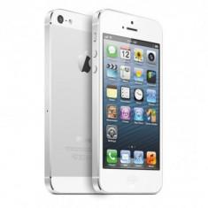 Telefon Apple iPhone 5 White, 16 GB, Wi-Fi, fara incarcator, fara cablu de date, display zgariat