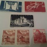 Elvetia 1938-48 / 6 valori MH, Nestampilat