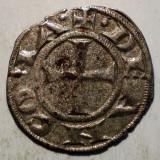 Moneda Medievala, Europa, An: 1299 - C.126 ITALIA ANCONA DENAR SEC. XIII ARGINT/BILLON 0, 65g/15mm