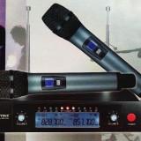 SET 2 MICROFOANE ULTRAPROFESIONALE WVNGR, RECEIVER CU AFISAJ LCD, FULL METAL.NOI. - Microfon
