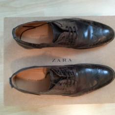 Pantofi barbati - Pachet Pantofi Zara Man Nr.42 + Curea Enzo Bertini