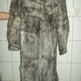 Palton dama - Haina din blana naturala din ied, noua, masura 46, ffFFFFf ELEGANTA si SUPERBA