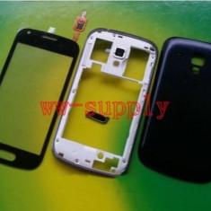 Touchscreen telefon mobil - Carcasa fata touch screen mijloc spate capac baterie Samsung S7562 Galaxy S Duos