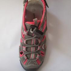 Sandale sport pentru fete, model cu varf din cauciuc, marimi 29.33 - Sandale copii, Culoare: Gri, Textil