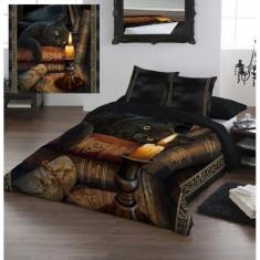 Set lenjerie de pat din bumbac Ora vrăjitoarelor 200x200