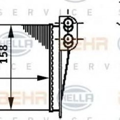 Schimbator caldura, incalzire habitaclu RENAULT CLIO Mk II 1.2 - HELLA 8FH 351 311-031 - Sistem Incalzire Auto