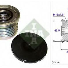 Sistem roata libera, generator RENAULT LAGUNA II 1.9 dCi - INA 535 0088 10 - Fulie