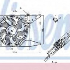 Ventilator, radiator DACIA LOGAN pick-up 1.4 - NISSENS 85710 - Ventilatoare auto