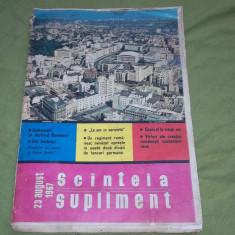 revista supliment Scinteia / scanteia 23 august 1967