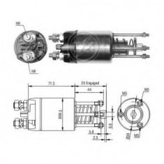 Solenoid, electromotor FIAT 127 0.9 - ERA 227249