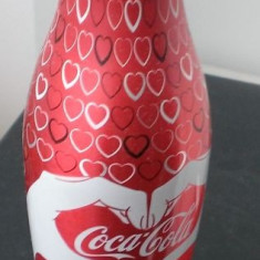 Sticla aluminiu Coca Cola - Luna Dragostei - Romania 2016