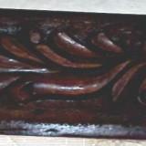 2 galerii de lemn din brad cu model sculptat pt perdea