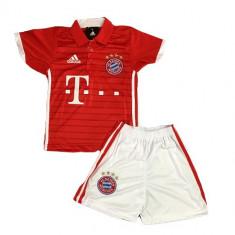 Tricou+Sort(Set) Copii Adidas Bayern Munchen Acasa Sezon 2016/17(SIMPLU), Marime: YXS, YS, YM, YL, Culoare: Rosu