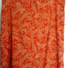 Fusta H&M vascoza, Marime: 44/46, Culoare: Orange, Forma A