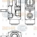 Supapa expansiune, clima SMART FORTWO cupe 1.0 Turbo - BEHR HELLA SERVICE 8UW 351 239-611