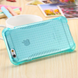 Husa silicon anti soc iphone 5, 5s, SE - anti alunecare - albastru - Husa Telefon