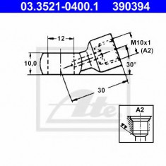 Conector, conducte metal - ATE 03.3521-0400.1
