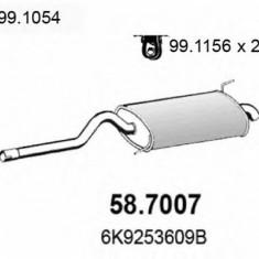 Toba esapament finala VW CADDY Mk II 1.9 SDI - ASSO 58.7007 - Toba finala auto