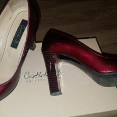Pantofi cu toc - Musette - Pantofi dama, Marime: 35, Culoare: Burgundy