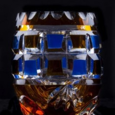 Vaza din cristal (7), h x di : 10 x 7 cm - Vaza sticla