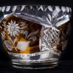 Bomboniera din cristal, h x di : 9, 5 x 11, 5 cm - Fructiera sticla