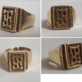 Inel vechi placat cu aur - UNISEX