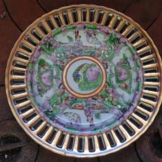 FRUMOASA FARFURIE DIN PORTELAN SPITAT, CHINA, MODEL DECORAT MANUAL, Farfurii