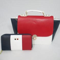 Set dama geanta si portofel Tommy Hilfiger+CADOU - Geanta Dama, Culoare: Din imagine, Marime: Mare
