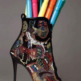 Sandale - Sandale dama Giuseppe Zanotti, Marime: 37, Culoare: Negru