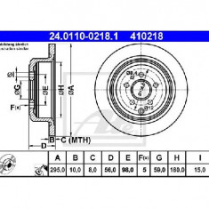 Disc frana PEUGEOT 806 221 PRODUCATOR ATE 24.0110-0218.1 - Discuri frana
