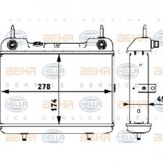 Radiator racire ulei, cutie de viteze automata MERCEDES-BENZ limuzina W124 PRODUCATOR HELLA 8MO 376 725-381