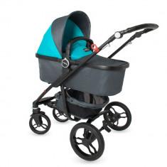 Sistem modular DhsBaby Arrow 2in1 albastru - Carucior copii 3 in 1 DHS Baby, Pliabil, Maner reversibil