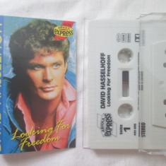 David Hasselhoff – Looking For Freedom _ caseta audio originala, Germania - Muzica Pop ariola, Casete audio