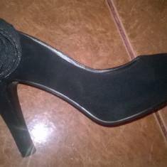 Pantofi-sanda Nissa, marimea 38 - Pantofi dama Nissa, Marime: 38 2/3, Culoare: Negru